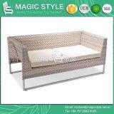 Sofà di Kd con l'ammortizzatore dal sofà esterno del Wicker Weaving impostato (stile magico)