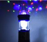 Luz que acampa solar al aire libre recargable del LED