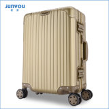 Junyou Fashion Travel Trolley Bag, Trolley Case, Alumínio Magnesium Alloy Bagagem