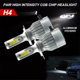 Automobiele Lighting All in One C6 COB H4 LED Headlight voor Car 6000k 36W 3800lm