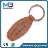 Trousseau de clés de cuir en métal de véhicule de qualité avec différentes couleurs