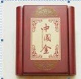El chino redacta el rectángulo de la barra de oro
