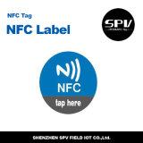 Escritura de la etiqueta de papel F08 RFID del Anti-Metal del Hf de NFC