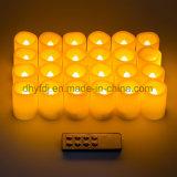 Luz Flameless do chá do diodo emissor de luz da vela 12PCS