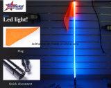 A luz de venda quente do diodo emissor de luz da antena do carro da fibra óptica de 2017 RGB, diodo emissor de luz chicoteia a liberação rápida clara da bandeira com a bandeira para o Buggy SUV de ATV UTV Rzr