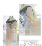 Cor encantadora da liga de diversas cores que obstrui o lenço longo das mulheres do inverno da cópia do estilo