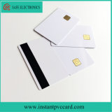 Tarjeta elegante blanca de la raya magnética de la viruta de la identificación 4428