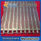 Banda transportadora conectada placa del acero inoxidable 304