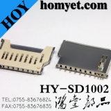 Микро- разъем карточки TF разъема карточки T-Вспышки памяти SD для черни (HY-TF1007F)