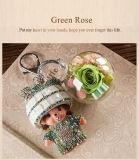 Ivenran는 신선한 꽃 녹색 Keychain를 보존했다