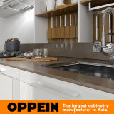 do revestimento branco de Thermofoil da largura de 360cm gabinete de cozinha padrão (OP17-PP02)