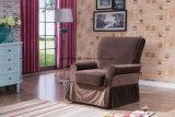 ロッカーのリクライニングチェアの椅子Wの任意選択旋回装置のベースによって装飾される動揺及び横たわる居間の椅子