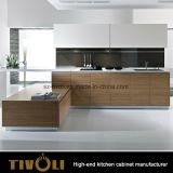 높은 광택 아파트 Tivo-0005h를 위한 형식 디자인을%s 가진 백색 주문 부엌 찬장 Cabinetry