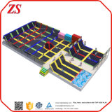 Парк Trampoline детей большой крытый с взбираясь играми и скольжениями