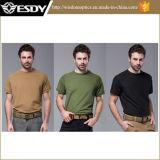 야영하는 3colors Esdy Breathable 빠르 건조 최신 전술상 전투 t-셔츠 하이킹