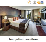 カスタマイズされたクルミのベニヤのホテルの寝室の家具(HD852)