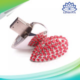 Cadeau promotionnel Metal Heart Shape Jewelry Diamant USB Flash Drive, Crystal Heart Mémoire Flash USB Stick