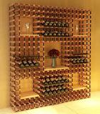 Crémaillère de vin de Bordex de mémoire d'étalage de bouteille en métal et en bois de DIY
