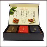 Rectángulo de papel de empaquetado de sellado caliente del regalo de los rectángulos de Custmized del rectángulo del té