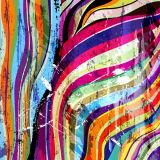La pintura colorida abstracta de la lona para la decoración
