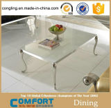 熱い販売の贅沢な現代居間の家具のガラス茶表デザイン
