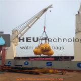 Мешки воды испытания грузоподъемности крана Heutech