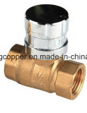 Fabricante bloqueable de cobre amarillo de la vávula de bola