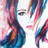 Qualitäts-Schönheits-Mädchen-Segeltuch-Farbanstrich für Hauptdekoration