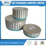 トンコワンの金のロゴの卸売が付いているピンクカラーペーパー帽子の花ボックス円形の管の包装ボックス