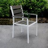 Jardín del ocio que cena el conjunto moderno de aluminio de los bistros del vector de la silla de los muebles 2017 al aire libre de aluminio