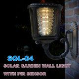 Solar LED de luz al aire libre cubo de pared de luz al aire libre con temporizador