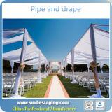 El tubo de la decoración de la boda y cubre la tienda de la boda del contexto para la venta