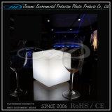 Mobília plástica do diodo emissor de luz do cubo para a barra do jardim do hotel