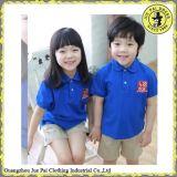 Vendita calda! ! Camicia blu e bianca dell'uniforme scolastico poco costoso della banda