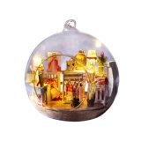 De onvolledige Levering van de Bouw van het Poppenhuis van de Bal van het Glas van de Decoratie van het Huis Miniatuur
