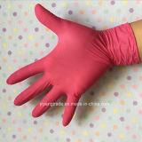 Черный цвета нитрила перчатки порошок Non для рассмотрения