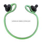 Cuffie senza fili in cuffia avricolare di Bluetooth di sport dell'orecchio comoda per musica (Nero-verde)