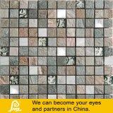 Metallo spazzolato miscela di pietra con il mosaico di cristallo