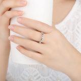 Modo poco anello dell'argento sterlina della stella 925