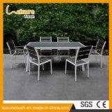 Riemen-und Straßen-förderndes Produkt-im Freienmöbel-Garten-Picknick-Puder-Sprühhölzernes Gaststätte-Stuhl-Tisch-Aluminiumset