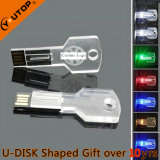 Cadeaux de cristal populaires LED Light Key Pendrive USB (YT-3213-09)