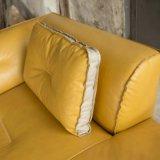 Самомоднейший фаэтон софы желтого цвета комнаты кровати (L720-11)
