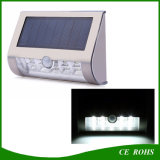 High Brightness Stainless Steel 9LED Solar Lamp Motion Sensor Wall Mounted Solar LED Lights with Dim Light for Garden Pathway