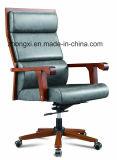 사무실을%s 높은 뒤 대중적인 PU 가죽 회전대 목제 의자
