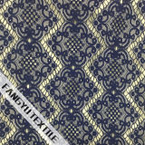 Tela de nylon do laço do algodão Prismatic do projeto da listra
