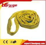 ポリエステル標準カラーコードの材料によって編まれる平たい箱の持ち上がるウェビングの吊り鎖