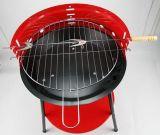 Красная подвижная бездымная крытая решетка BBQ угля с колесами