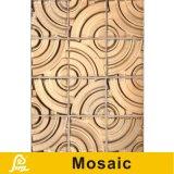 Плитка роскошной специальной формы белая/золотистая искусствоа мозаики для серии искусствоа стены керамической (керамического искусствоа G01/G02)