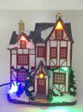 Factory Price Illuminé résine maisons de vacances de Noël avec de la musique