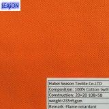 Ткань хлопка 20*20 108*58 230GSM En11611 En11612 функциональная пожаробезопасная Flame-Retardant для защитного Workwear